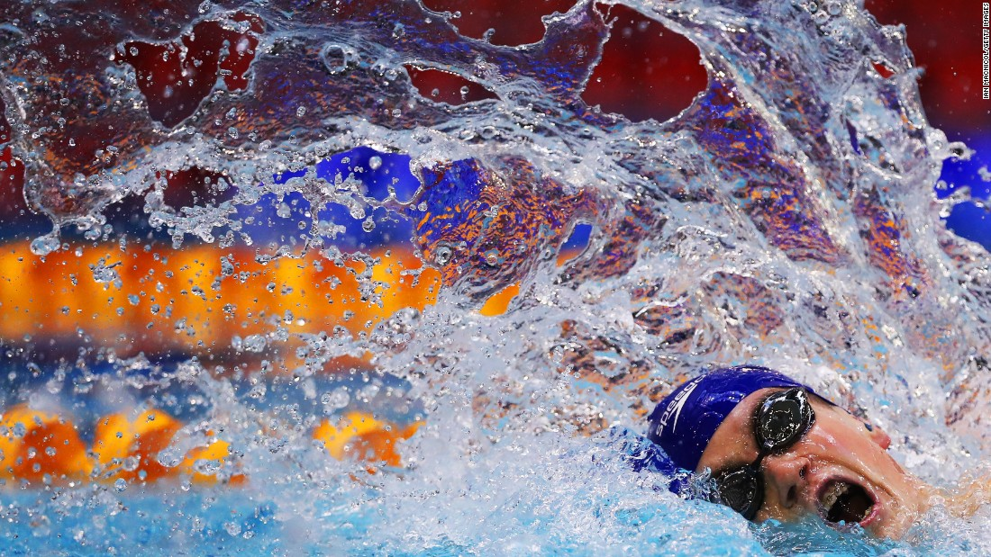 Thomas Hamer swims the 200-meter freestyle during the British Para-Swimming International on Tuesday, April 26. The meet was held in Glasgow, Scotland.
