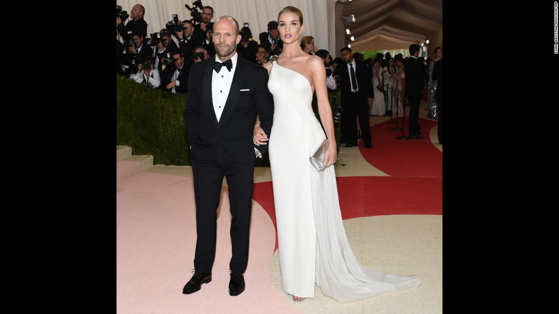 Jason Statham, left, and Rosie Huntington-Whiteley