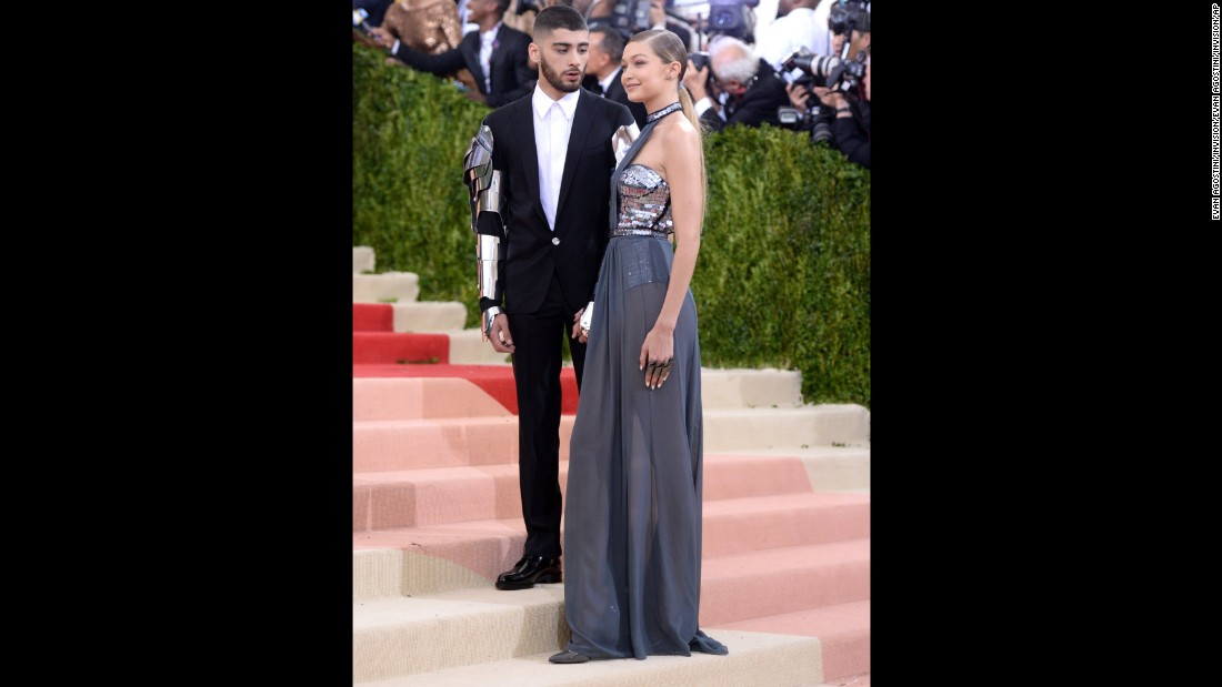 Zayn Malik, left, and Gigi Hadid