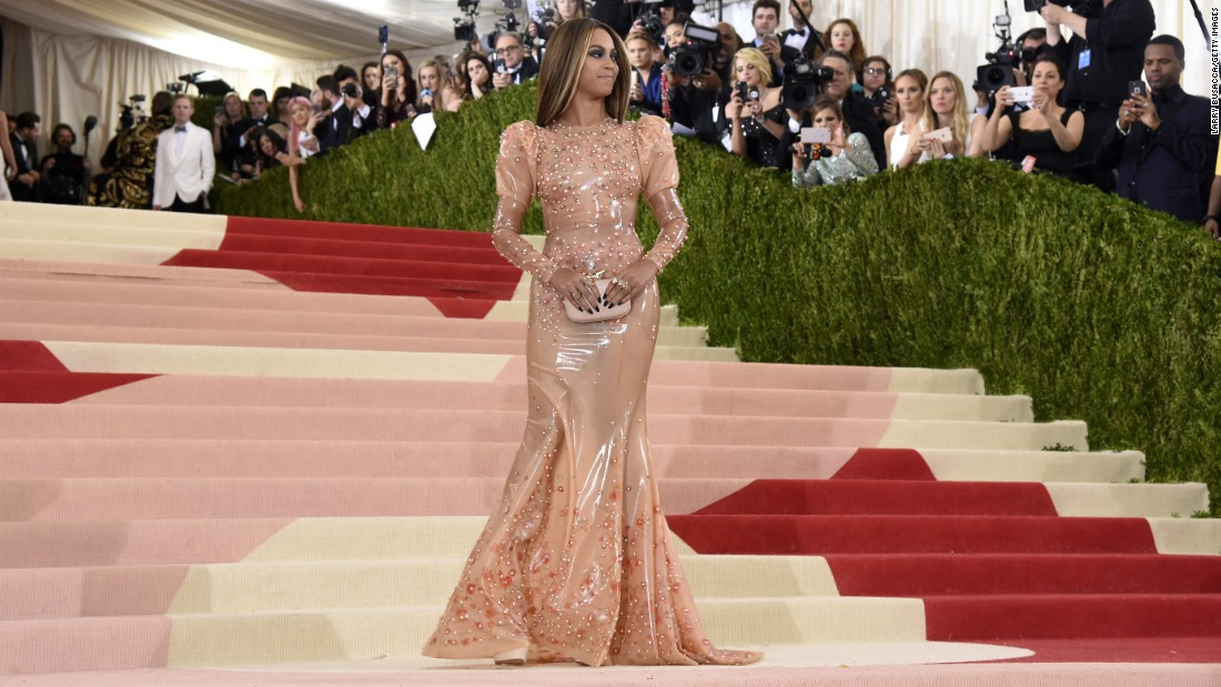 "Beyonce attends the ""Manus x Machina: Fashion In An Age Of Technology"" Costume Institute Gala at the Metropolitan Museum of Art on Monday, May 2, in New York."
