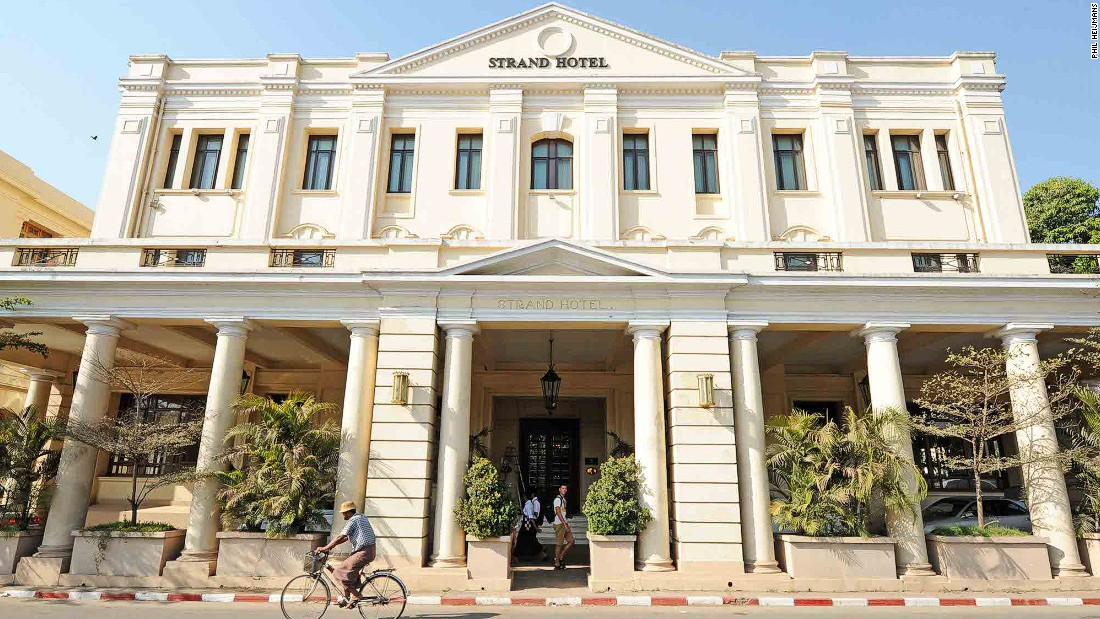 Yangon's most historic luxury hotel, The Strand, was built in 1901 by the Sarkie brothers.