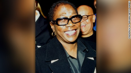 NOVEMBER 4: Producer Afeni Shakur attends the film premiere of 'Tupac Resurrection' at the Cinerama Dome Theater on November 4, 2003 in Hollywood, California. (Photo by Frederick M. Brown/Getty Images)