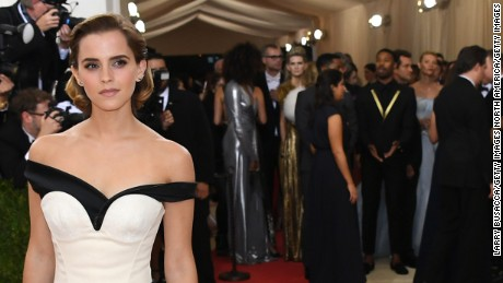 Emma Watson dons dress made of plastic bottles