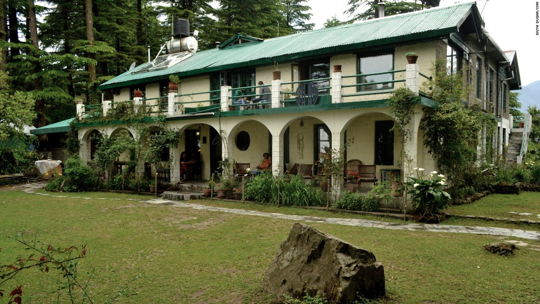 The picturesque Hotel Eagles Nest is a small property with seven rooms and a dining area.