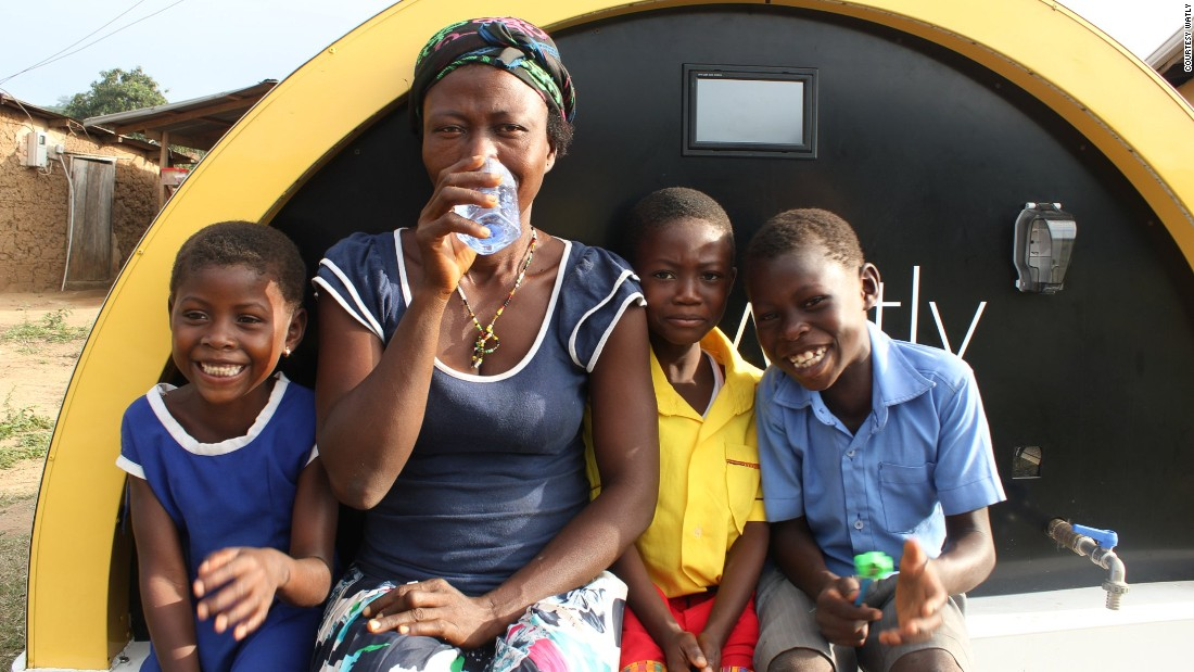 Watly can deliver 5,000 liters of safe drinking water each day. The battery also powers a connectivity hub that provides wireless internet within an 800-meter radius, and a charging station for electronic and mobile devices. <br />