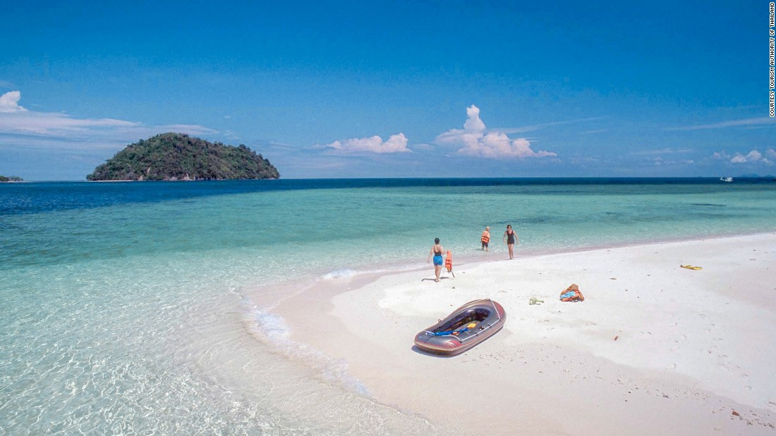 Beaches on this beautiful 30-square-kilometer island are accessible by long-tail boats.