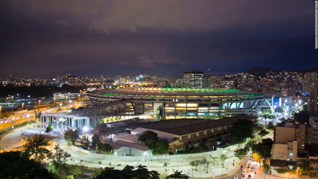The Maracana stadium  in Rio de Janeiro will host the opening ceremony of the Games which run from August 5-21.