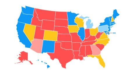 Road To CNNs General Election Map CNNPolitics - Us election electoral map calculator