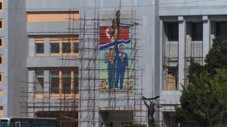 North Korea street Preperations