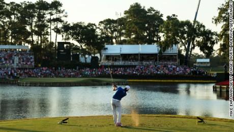 17th hole, Stadium Course, TPC Sawgrass, Florida.