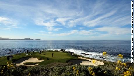 7th hole, Pebble Beach Golf Links, California.