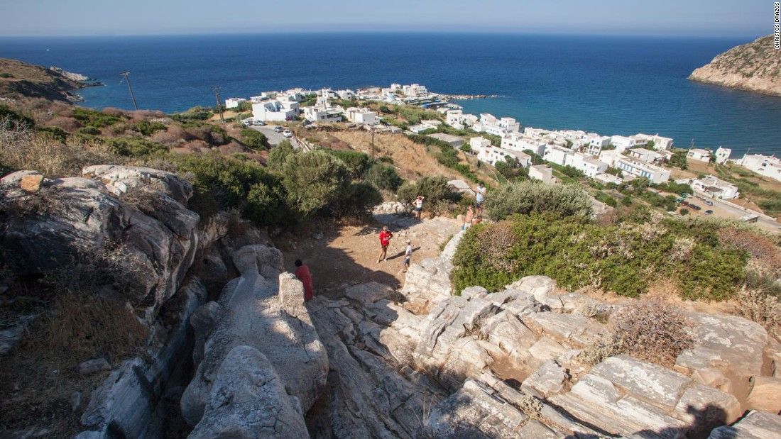 The island is dotted with ancient sites such as this marble quarry near Apollonas strewn with colossal unfinished statues.