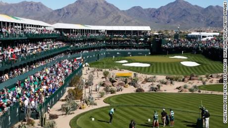 16th hole, TPC Scottsdale, Arizona.
