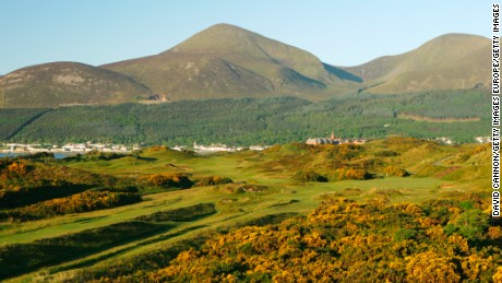 4th hole, Championship course, Royal County Down, Northern Ireland.