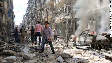 Syrian doctor: 'Aleppo is burning'