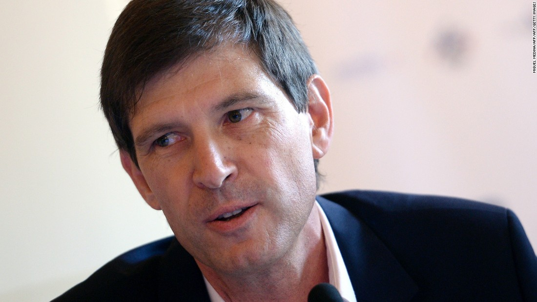 Cammas has been backed since 1998 by French insurance multinational Groupama, whose director general Thierry Martel is pictured.