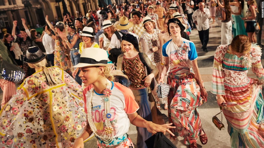Chanel hosted a long weekend of activities,  including a visit to Ernest Hemingway's house, in Havana in May this year to celebrate this collection -- a landmark event for both the brand and the country. Guests were chauffeured to the event in brightly colored convertibles and Fidel Castro's grandson walked the runway.