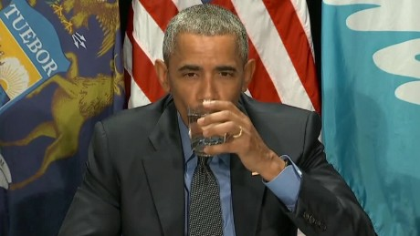 obama drinks flint water lead pipes replaced sot _00000614