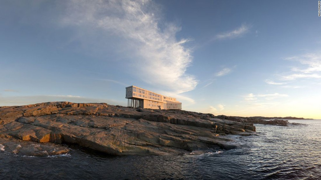 <strong>Fogo Island Inn, Canada: </strong>Built on a rocky outcrop in Newfoundland, the inn feels as if it's floating above the water thanks to floor-to-ceiling views that frame crashing waves and moody skies.<br />
