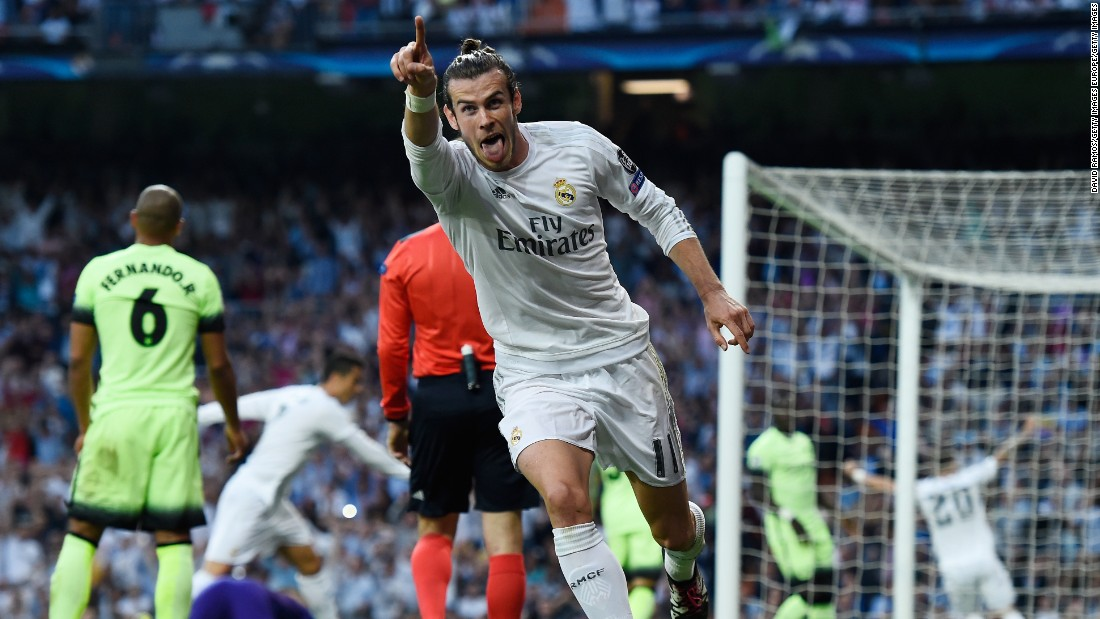 With City struggling to adjust to the loss of Kompany, Real Madrid struck when Gareth Bale fired home with the help of a deflection to give the home side a 1-0 lead in the 20th minute.