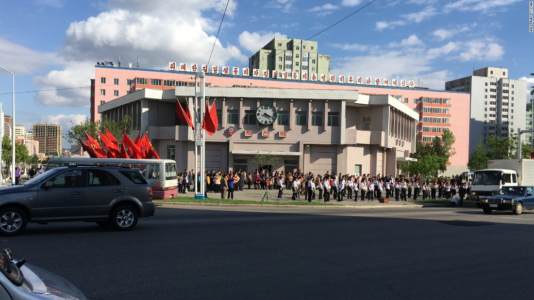"A student band outside Hyoksin (Innovation) Station is tasked with lifting the spirits of Pyongyang citizens so they'll work harder during the ""70 day battle"" leading up to the congress."