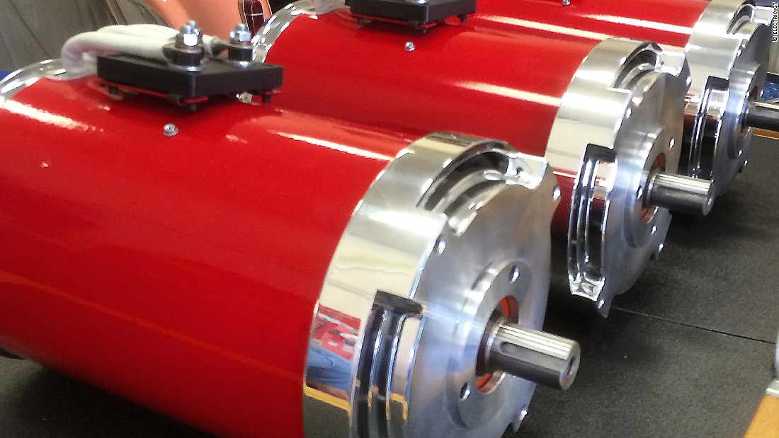 The new triple electric motor sits in the position where the V8 originally sat.