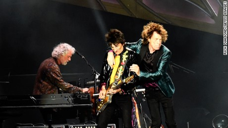 "Rolling Stones keyboardist Chuck Leavell, Mick Jagger and Ronnie Wood of ""The Rolling Stones"" perform during The Rolling Stones North American ""ZIP CODE"" Tour in Nashville, Tennessee on June 17, 2015."