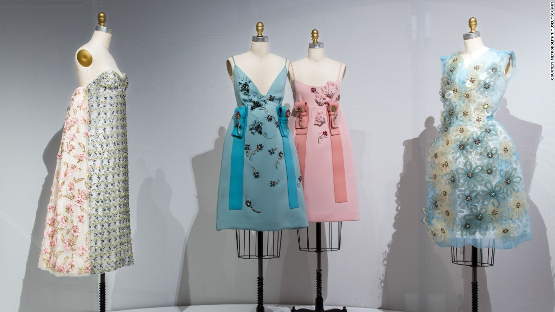 Upper Level Gallery View: Artificial Flowers at Manus x Machina: Fashion in an Age of Technology.
