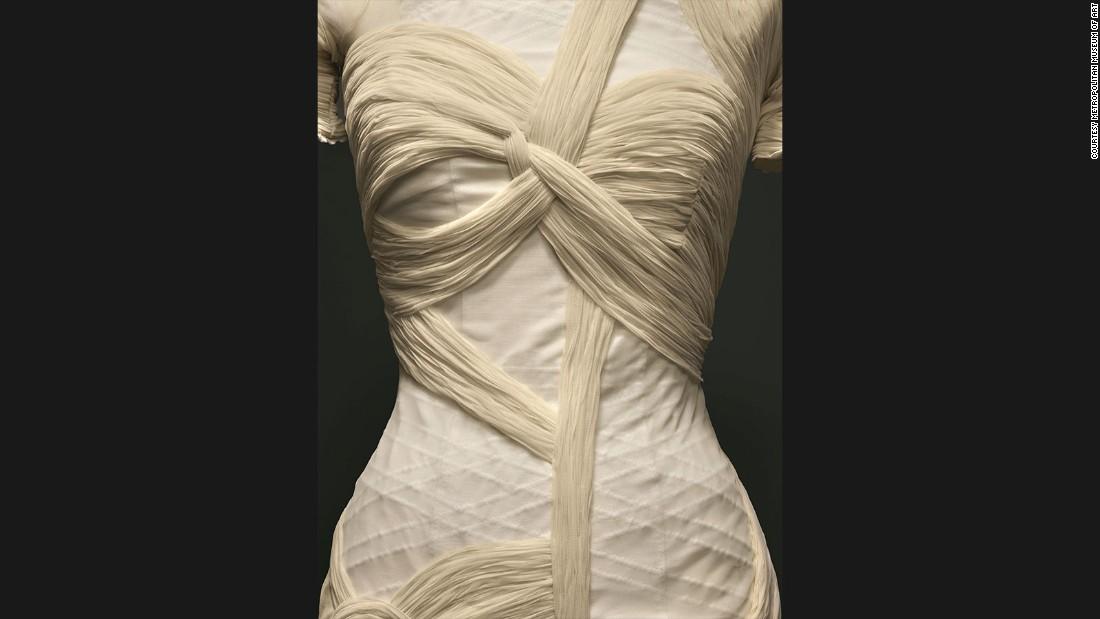 Dress by Nicolas Ghesquière for House of<br />Balenciaga, Spring-Summer 2003 prêtà-<br />porter collection.