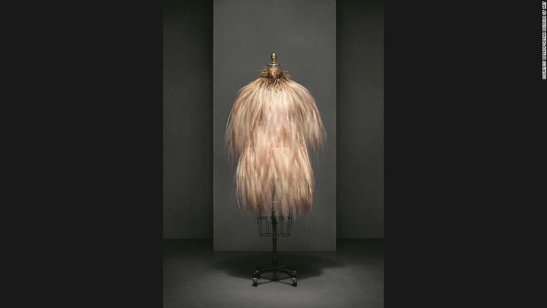 Evening dress by Yves Saint Laurent,<br />Autumn-Winter 1969--70 haute couture collection.