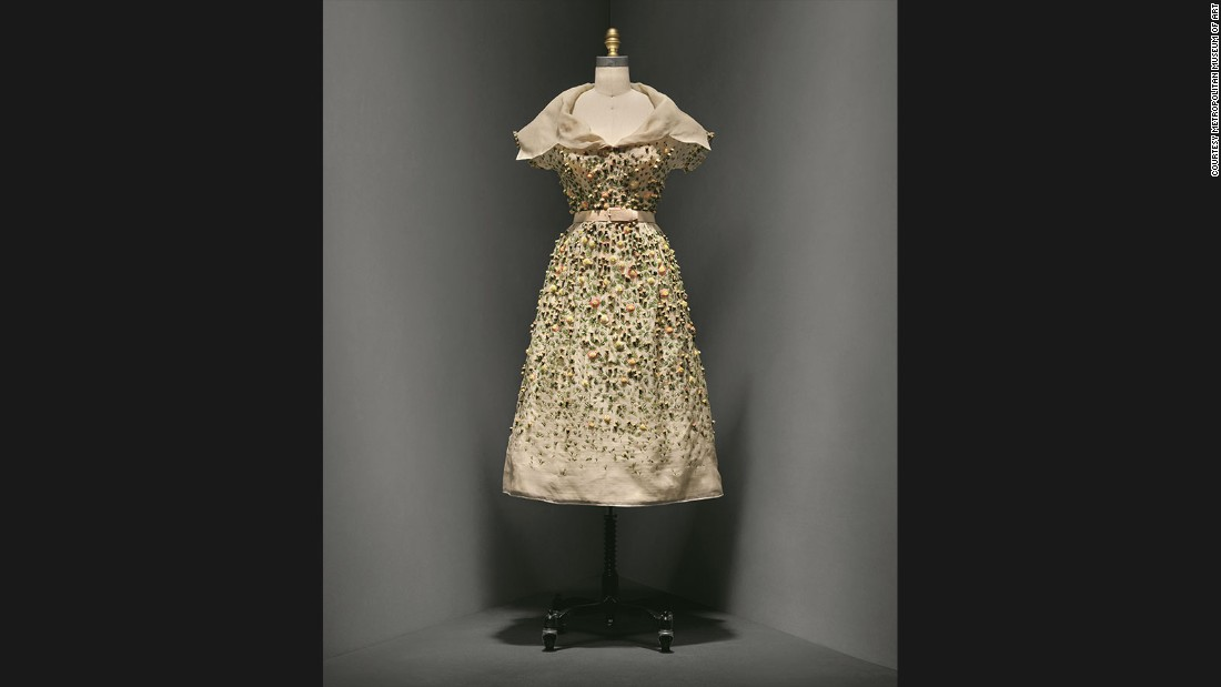 """Vilmiron"" Dress by Christian Dior,<br />Spring-Summer 1952 haute couture collection."