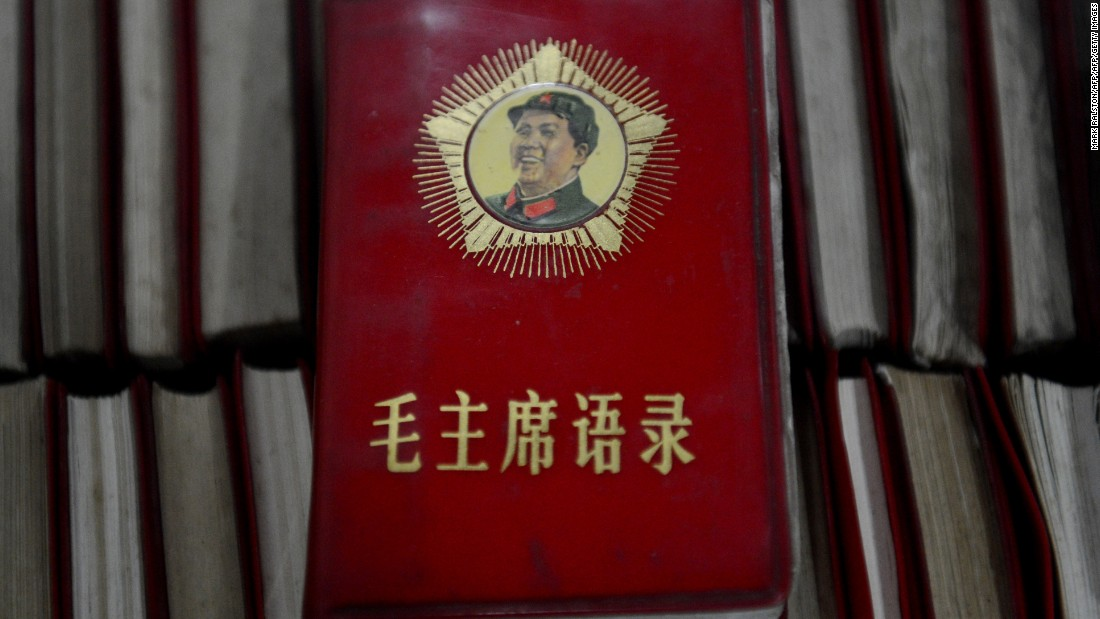 'Little Red Books' containing the thoughts of Mao Zedong at a Cultural Revolution museum near Chengdu, in Sichuan province.