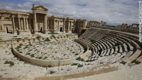The amphitheater in the ancient oasis city of Palmyra, Syria, before it was captured by ISIS.