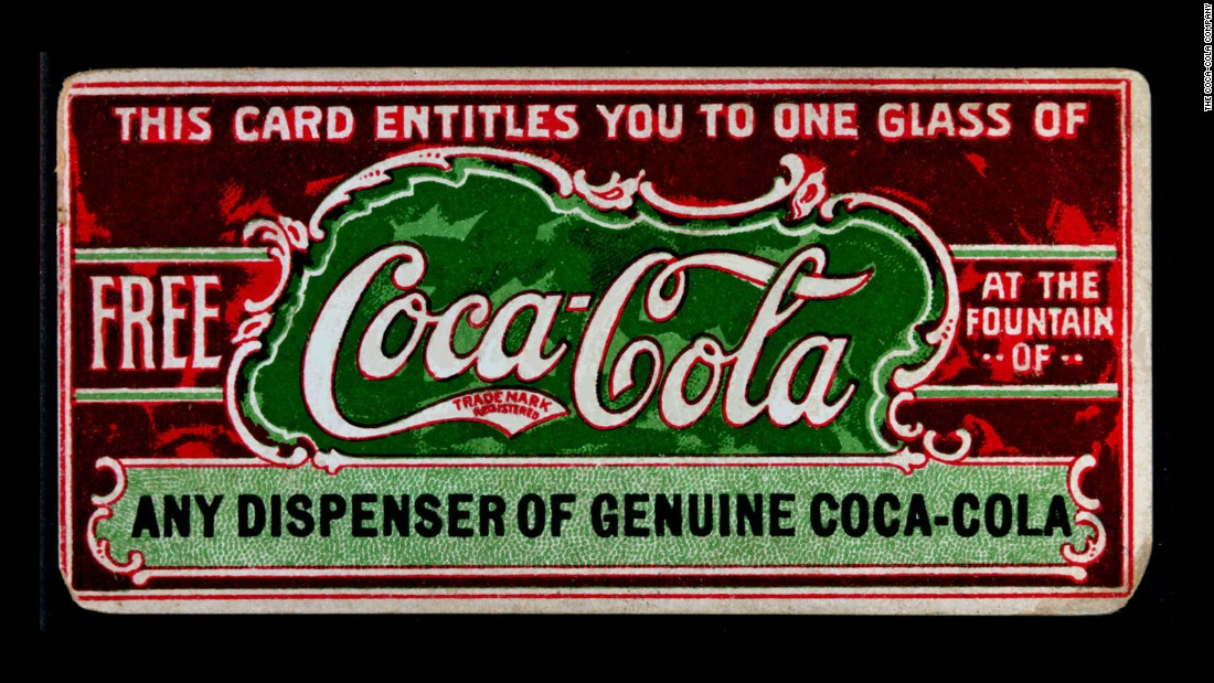 The soft drink Coca-Cola was first introduced on May 8, 1886. Here, a coupon offers a free glass of Coke in 1887. See how the company's advertisements have changed over the last 130 years.
