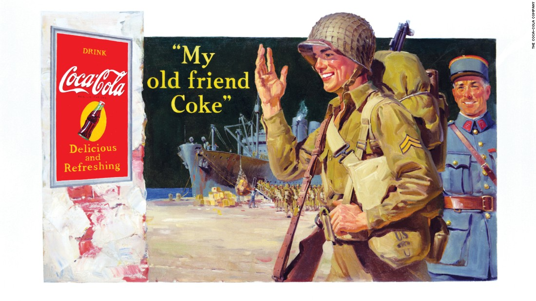 <strong>1944:</strong> A soldier is seen on this World War II-era ad.