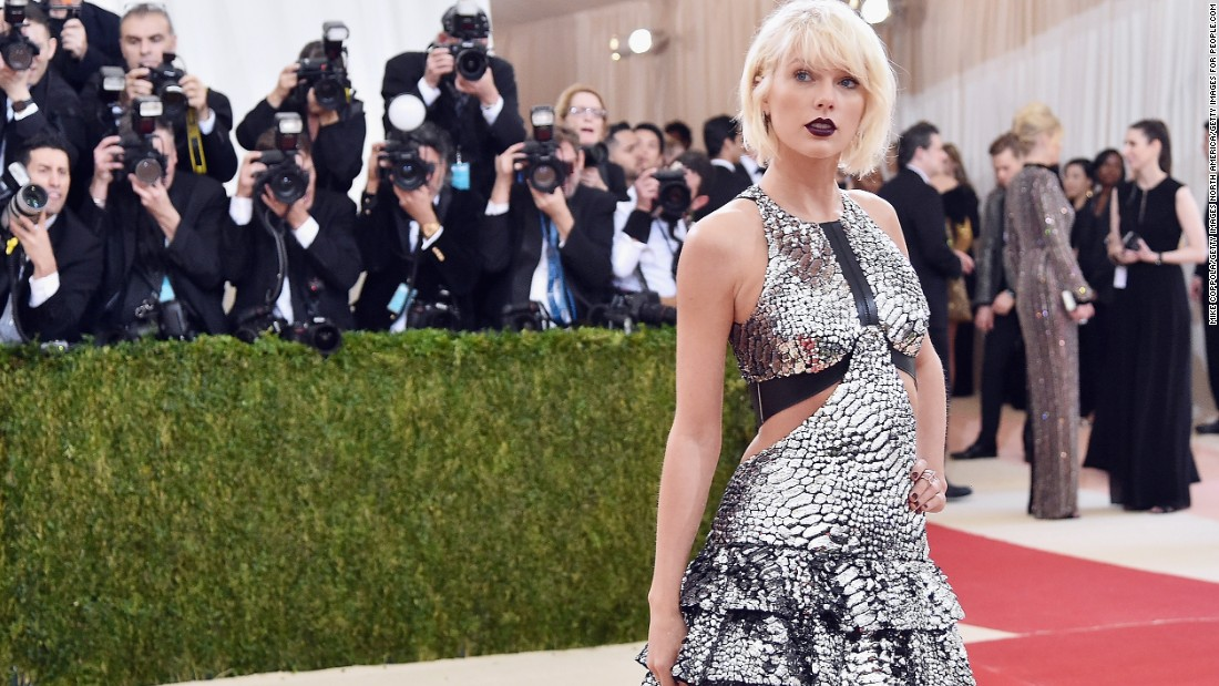 Taylor Swift wears Louis Vuitton at the 2016 Met Gala.