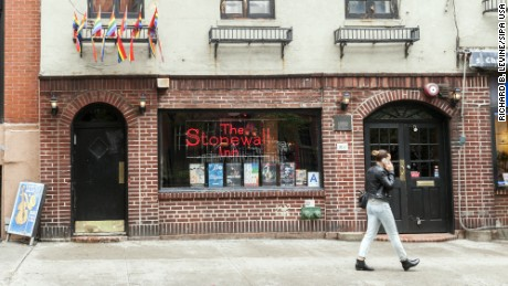 The Stonewall Inn on Christopher Street in Greenwich Village in New York on Monday, June 1, 2015. The Obama administration is considering a national monument to gay rights which would be situated in a small park across from the Stonewall Inn. (Photo by Richard B. Levine) *** Please Use Credit from Credit Field **