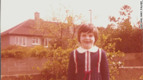 Caitriona Palmer seen at age 6.