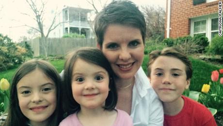 From left to right, Caoimhe De Luce (8), Neasa De Luce (4), Caitriona Palmer, Liam De Luce (11).