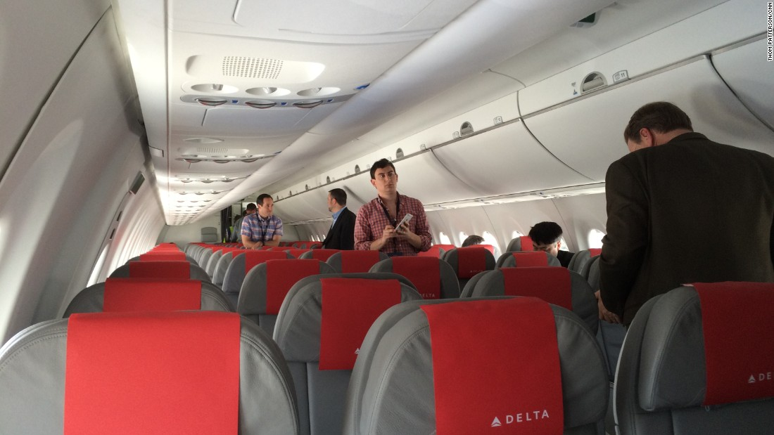 First Class seats in the CS100 will be configured 2-by-2, with the remaining classes in 2-by-3, Delta said.