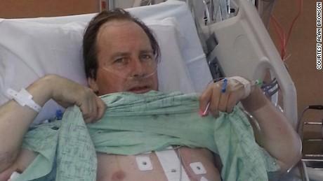 Alan Bronson received Deputy Geer's heart.