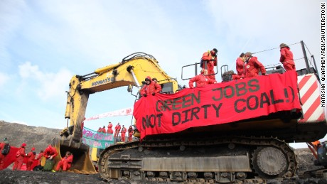 "About 300 ""Break Free"" climate protestors temporarily shut down a South Wales coal mine on May 3. Similar demonstrations are planned worldwide."