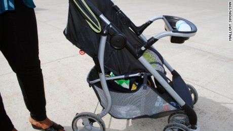 Lelany Marenga and Kwame Addo were at work and not able to return home. Their stroller is all they have.