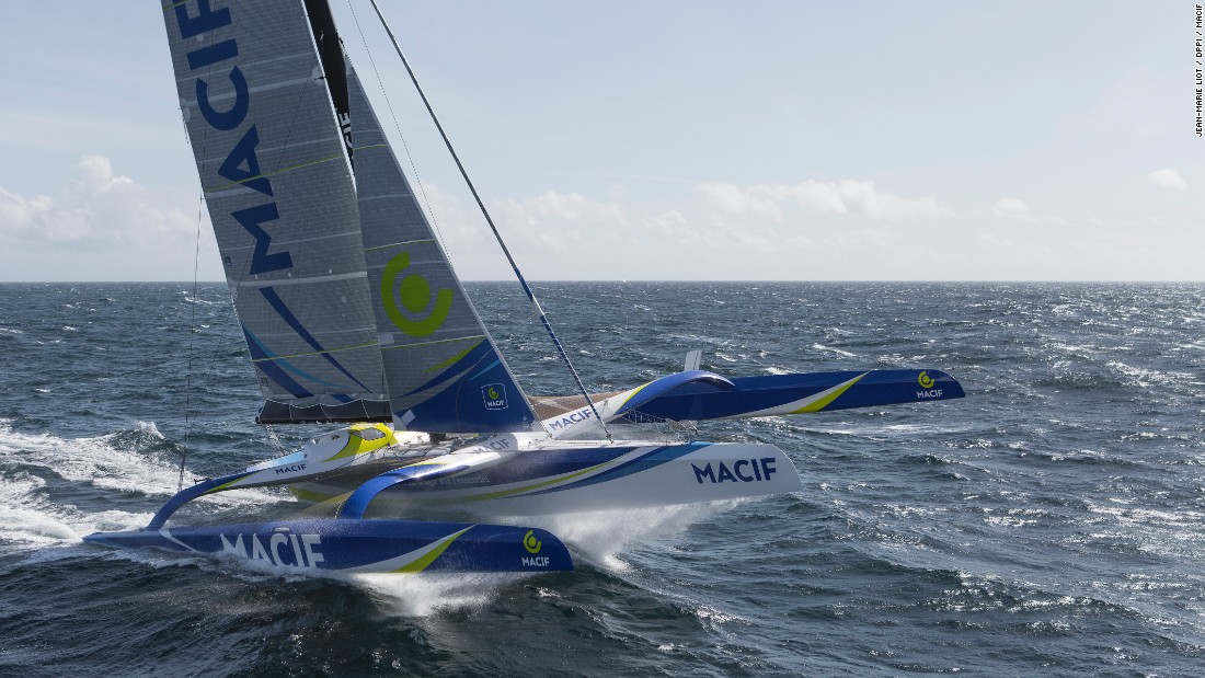 Trimarans of this size can now comfortably maintain speeds of 40 knots (46 miles per hour).
