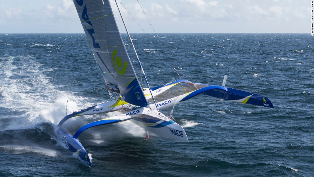 """The Transat bakerly, it is no longer what it was (waves, icebergs, biting winds),"" <a href=""http://www.thetransat.com/news/view/the-word-from-the-water"" target=""_blank"">Gabart told the Transat website</a>. ""I'm in Crocs and shorts! Considering the size of the Atlantic, how close we are is ridiculous."""