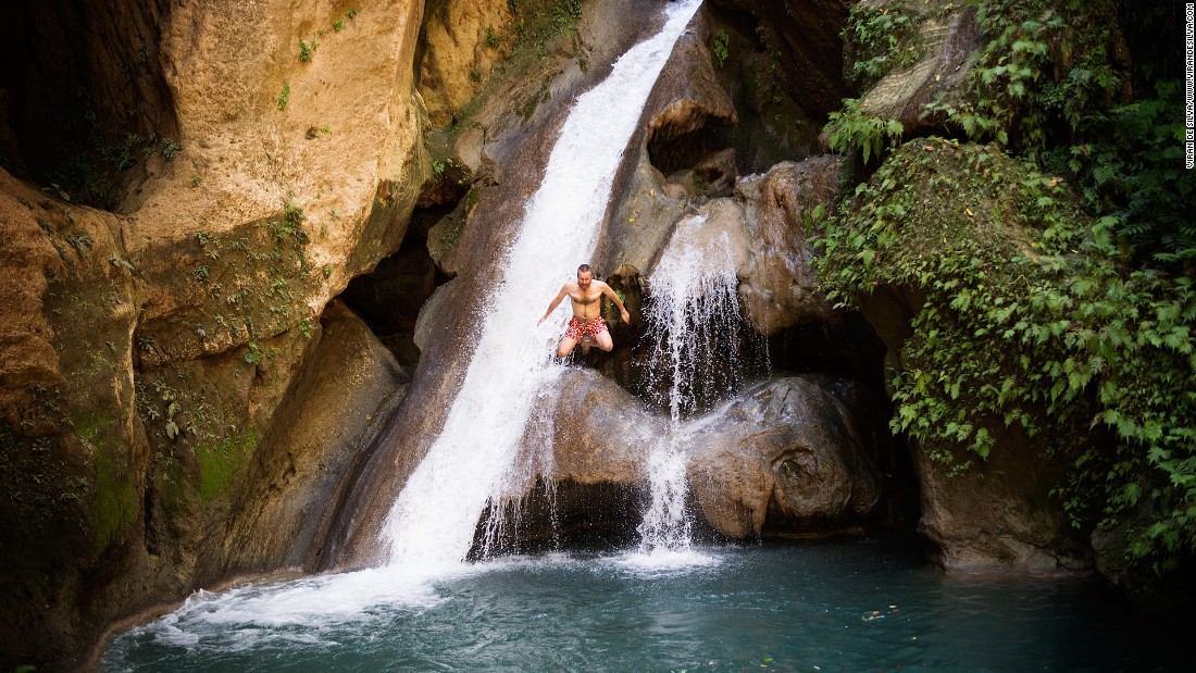 The Bassins Bleu near Jacmel in southern Haiti provide a somewhat hidden, but overwhelmingly worthwhile, expedition.