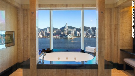 Views from the Peninsula Hong Kong live up the brand's lofty standards.