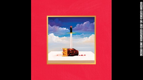 "Album artwork by George Condo for Kanye West's ""My Beautiful Dark Twisted Fantasy."""