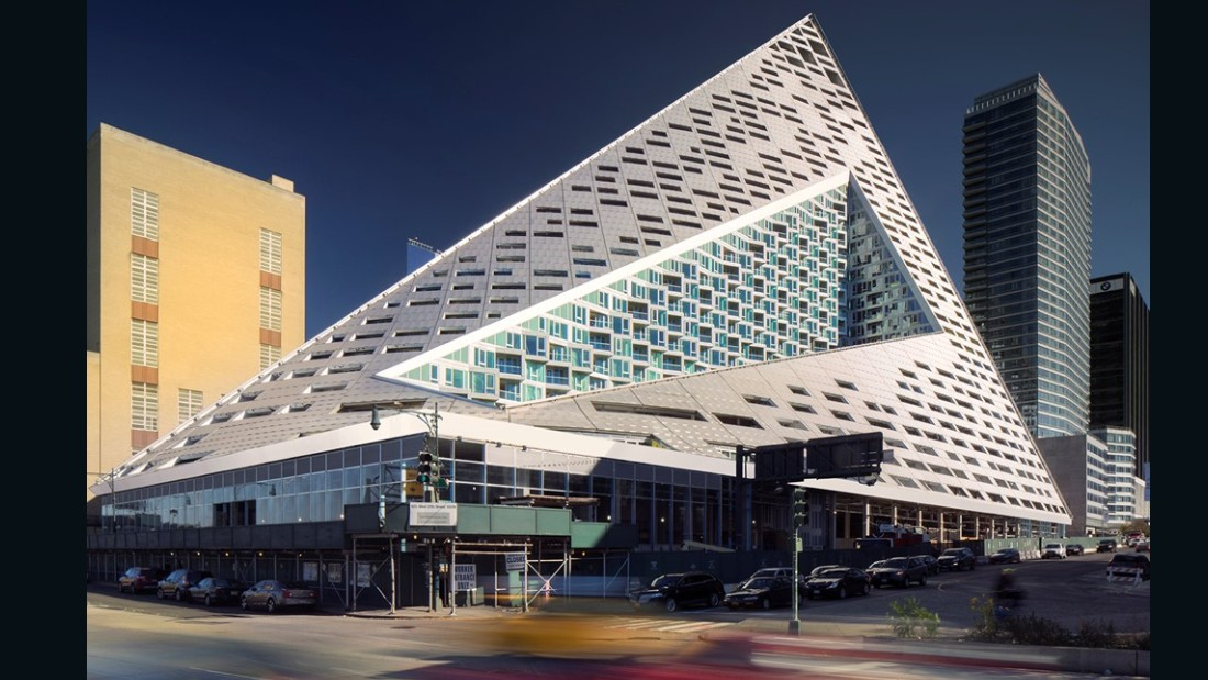 In New York, this complex by the Danish architect Bjarke Ingels, also looks towards sustainability -- combing striking design with a modern, green ethos.