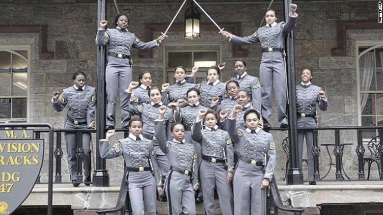 Cadets under scrutiny for raised fists photo